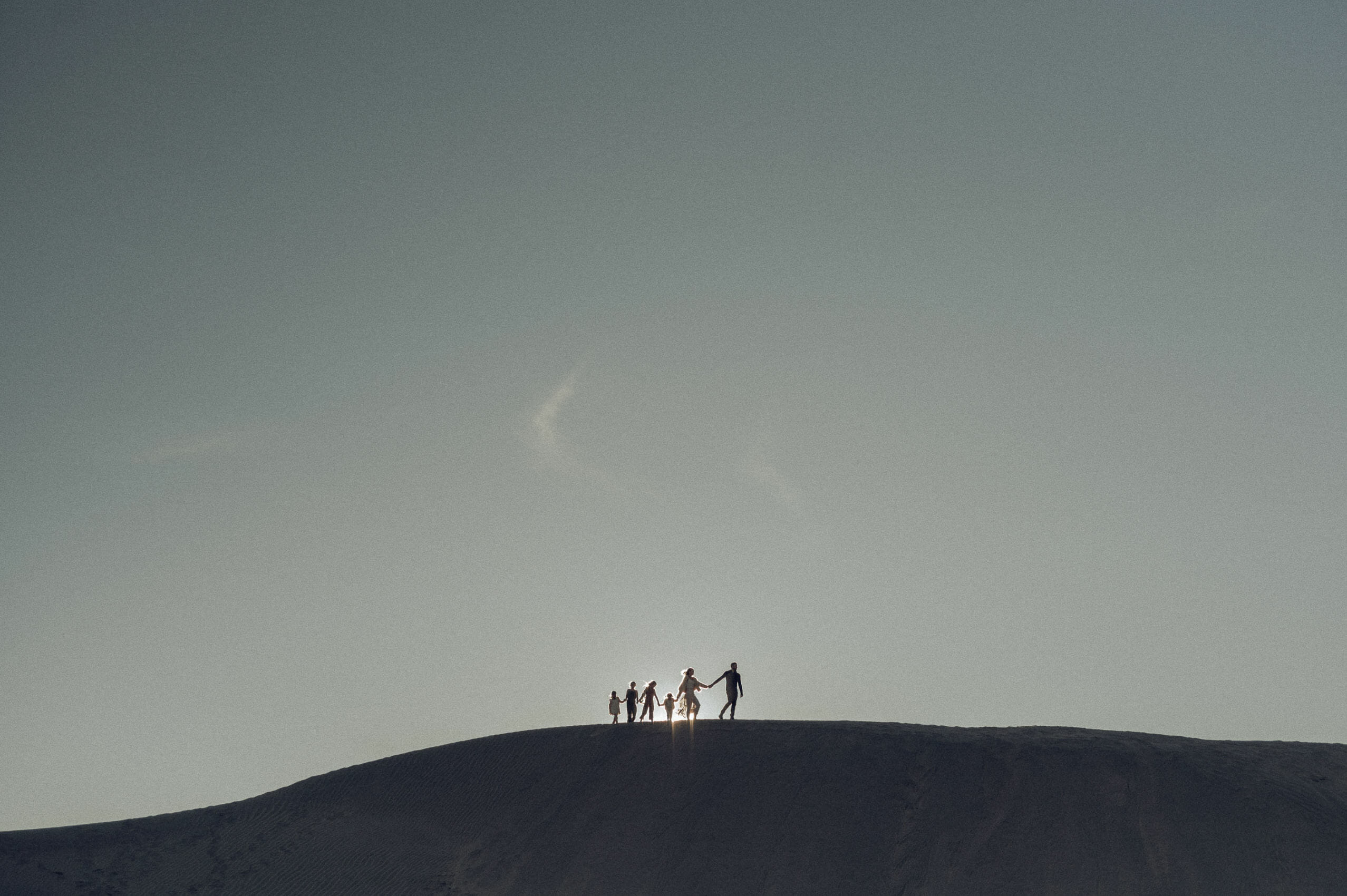 family photos on a dune