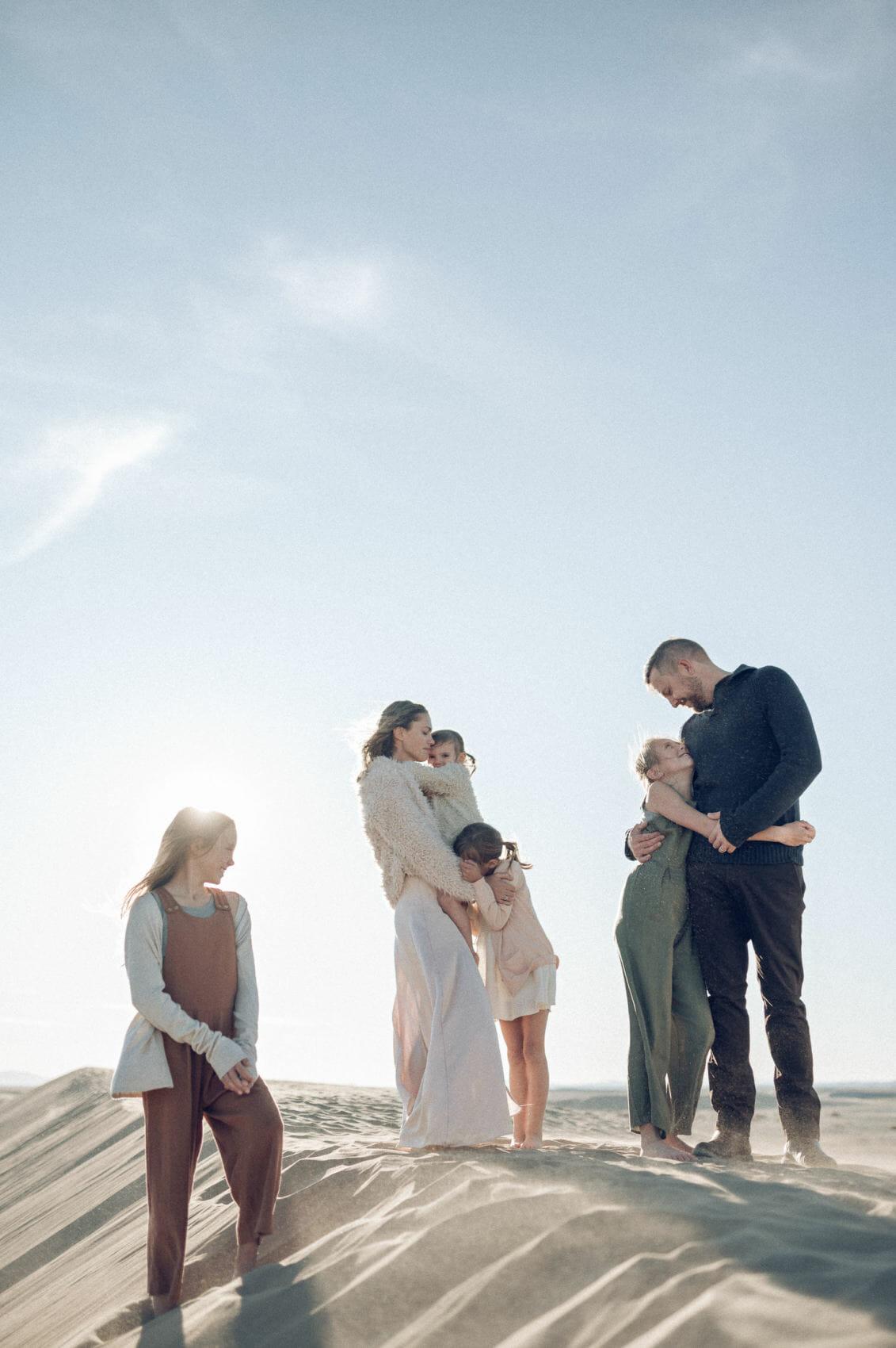 Family photoson sand dunes