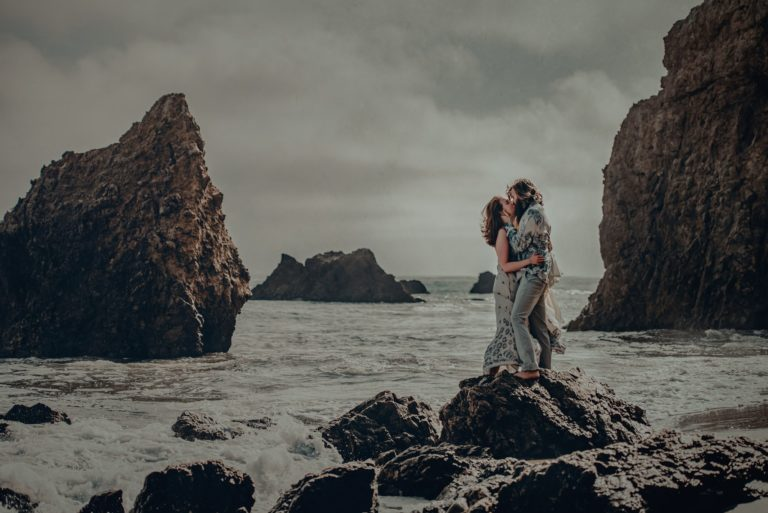 Matador Beach engagement session