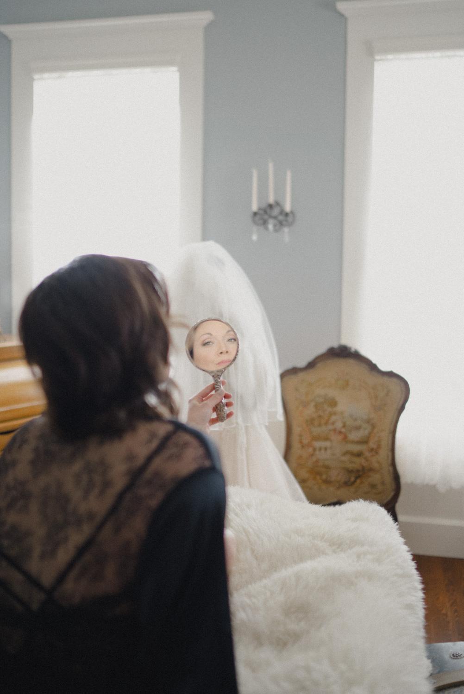bridal room reflection