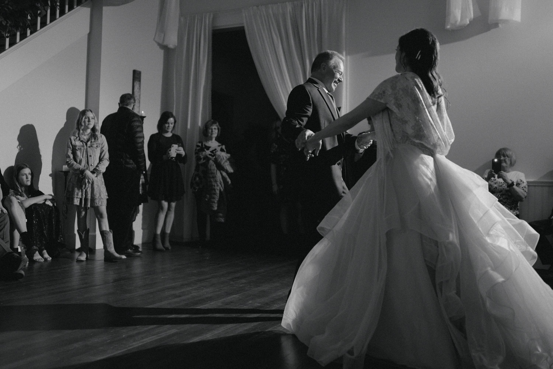 wedding dance low light
